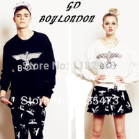 Wholesale Selling Boy London - HOT SELLING!!! NEVER MISS!!! $13=hight quality long-sleeve Bigbang eagle boy london sweatshirt T-shirt hiphop street plus size