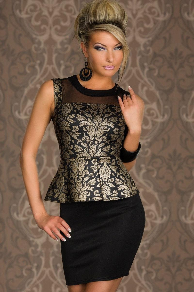 fashion women clothes sexy vestidos mature foil print sleeveless