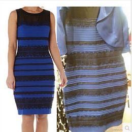 Wholesale Royal Blue Casual Dresses - Roman Originals - Lace Detail Bodycon Dress Ladies Royal Blue