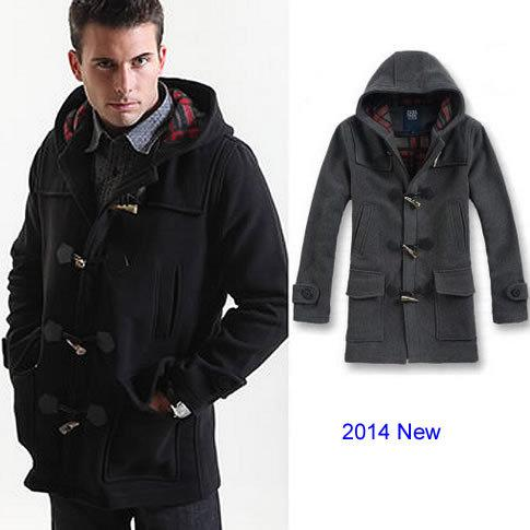 New Fashion Men Wool Coat Winter Jacket Outdoor Hoodies Overcoat ...
