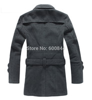 S-4XL Winter-Herren UK stilvolle beiläufige Wolle Doppel langer Jacken-Mantel Herren peacoats Parka Günstige Wintermäntel für Männer Plus Size LLB001