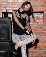 Wholesale Shirt Chiffon Retro Dot - Women Blouses 2015 Fashion Long Sleeve Sexy Retro Chiffon Polka Dot Shirt Blouses L-XL b7 CB032348