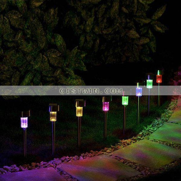 Elegant Of 8 Outdoor Garden Color Changing Solar Stainless Steel Pathway Lawn Lights  From Georgen, $36.75   Dhgate.Com