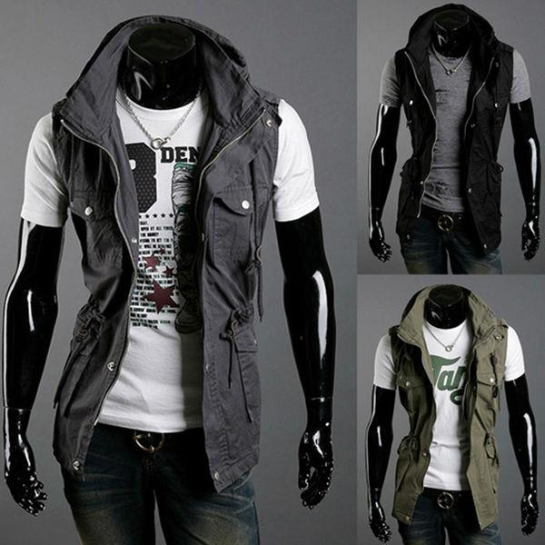 Free Shipping 2015 Spring New Design Mens Brand Cotton Vest,Casual Outerwear Coats For Men,Sleeveless Jacket,Summer Vest Men