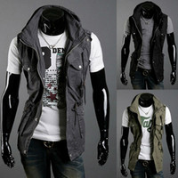 Wholesale Jacket Designs For Men - Free Shipping 2015 Spring New Design Mens Brand Cotton Vest,Casual Outerwear Coats For Men,Sleeveless Jacket,Summer Vest Men