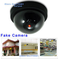 Wholesale Decoy Dvr Security - Emulational Fake Surveillance Security Decoy Dummy Dome CCTV DVR for Home Camera with flashing Red Led light Indoor Outdoor