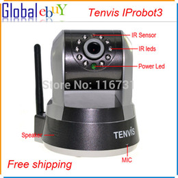 Wholesale Tenvis Iprobot3 Wireless Ip Camera - Tenvis IProbot3 Wireless Wifi IP Camera silvery CCTV Security IRcut Network 1280x720P IR Night Vision Monitor With AU Plug