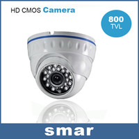 Wholesale Dome Camera Remote Control - 800TVL CMOS Infrared Night Vision Indoor safety Dome Camera Home Security Surveillance Support UTC Remote Control Free Shipping
