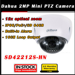 Argentina 12x Dahua 2Mp 1080P HD mini alta spped domo IP PTZ Cámara SD42212S-HN Soporte IP66 tarjeta SD de 64 GB POE Plus supplier ptz 12x Suministro