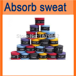 Wholesale Tennis Overgrip Wholesale - Wholesale-10pcs x Absorb sweat stretchy Tennis Squash Racquet Band Grip Tape Overgrip Tennis, Badminton and Squash Racquet