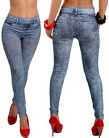 Wholesale Look Punk Casual - 2015 New Women Sexy Jean Look Sport Punk Fitness Casual Skinny Jeans Woman Pants 9066