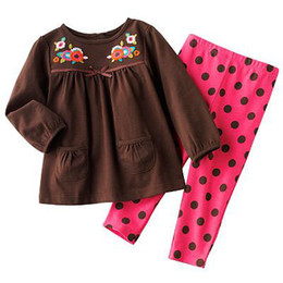 Wholesale Sets Jumping Beans - free shipping 2015 hot sell children's suit clothing Jumping beans girl sets Long sleeve T-shirt pants