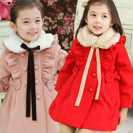 Wholesale Children Detachable Collar - 2015 New High Quality Baby Girl Winter Coat Thicken Detachable Fur Collar Fashion Warm Kids Wind Coats Children Outwear Jacket