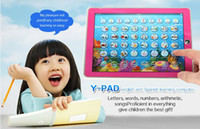 Wholesale Tablet Spanish Toys - Y-Pad English + Spanish Baby Kids Child Children Learning Study Machine Computer Tablet Funny Educational Toys Multi-Function