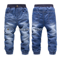Wholesale Kk Rabbit Baby - High quality KK-RABBIT brand summer style and winter thick cashmere fashion Boys pants girls kids trousers baby children jeans