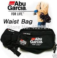 Wholesale Abu Garcia Tackle Bags - Free Shipping! 1Pc ABU GARCIA Waist Tackle Bag pockets Fishing Tackle Bags
