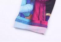 Wholesale Girl Pencils - Baby Leggings Kid Pants 2015 New Full Length Girl Leggings Elsa Pencil Pants Elastic Waist Cotton Leggings Kids