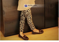 Wholesale Leopard Pants For Girls - 1Pcs New Winter Autumn Baby Girls' Leopard Leggings For 2-5yrs High Quality Children Fashion Pants Kids Trousers Free Shipping