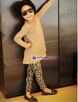 Wholesale Leopard Print Leggings For Kids - DKZ024 wholesale and retail 2015 baby girls' leggings fashion leopard print for children pants kids warm trousers free shipping