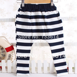 Wholesale Girls Collapse Harem Pants - NEW Baby Kids Girls Casual Collapse Pants Harem Pants Stripes Pants Costume 2-7Y XL167 Free&Drop shipping