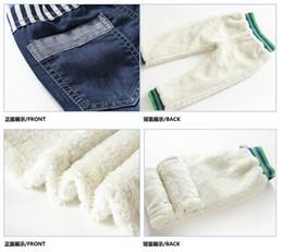 Wholesale Thick Brand Jeans Boys - Hot Sale New 2015 KK-Rabbit Brand Boys Kids Warm Jeans Thick Winter Warm Cashmere 2-7Yrs Children Pants Boys Winter Jeans 1494