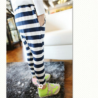 Wholesale Girls Collapse Harem Pants - NEW Baby Kids Girls Casual Collapse Pants Harem Pants Stripes Pants Costume 2-7Y