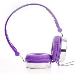 Wholesale Dj Headset Girls - Boys Kids Girls Childs Teens Adult Rockpapa Hearts Love DJ Headphones Headsets Earphones for Galaxy Tab Pro   Tablet PC Purple