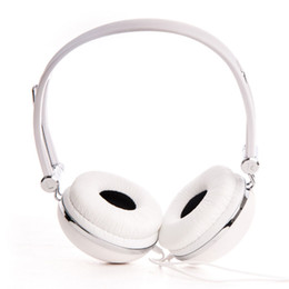 Wholesale Dj Headphone Girls - Rockpapa DJ Style Adjustable Over-Ear Funky Headphones Boys Kids Childs Girls Teens for iPad Air   iPod MP3 Phone DVD - White