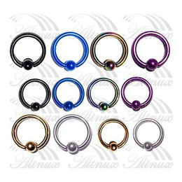 Free Shipping Titanium Captive Ring BCR Eyebrow Tragus Nose Nipple Ring Bar CBR Lips Piercings 10mm 2015 New Arrival Promotion от