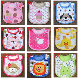 Wholesale Towel Accessories - 2016 NEW 100% Cotton Baby Bibs bandana bibs for babies Cotton Baby Bib Infant Saliva Towels Cartoon Accessories 3 layers WJ002