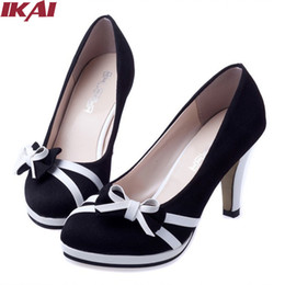 Wholesale Hot Pump Ladies - 2015 Hot Sale Ladies High Heels Pointed Toe Bowtie Women Pumps Slip-On Spring High Heel Shoes Woman Sapatos Femininos XWA117