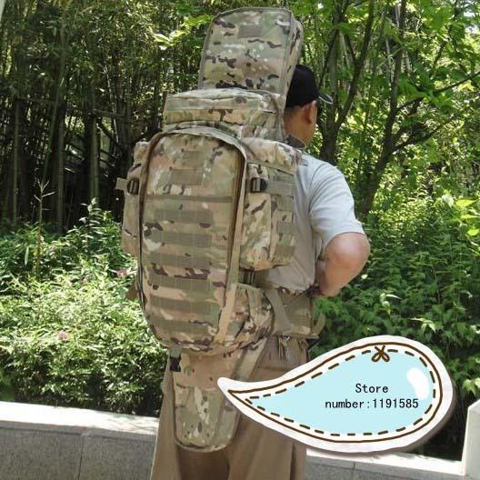 2016 new arrival Outdoor molle Militray Rifle backpack mountaineering travel camping Hiking Fishing bag Multicam