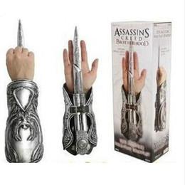Wholesale Assassin Creed Cosplay Brotherhood - Assassins Creed hidden blade New Assassins Creed Cosplay Brotherhood Ezio Hidden Blade Gauntlet Vambrace Knife High quality Box