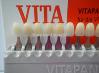 New dental do dentista Dentes Whiting Porcelain VITA Pan Dentes Classical Shade Guide 16 cores de sombra com presente