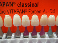 New dental do dentista Dentes Whiting Porcelain VITA Pan Clássica 16 dentes cor guia de cores