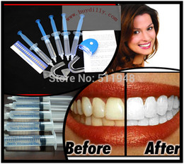 Feux De Blanchiment Dentaire Pas Cher-1pack / lot Home Use Teeth Tooth Whitener Gel Blanchiment Dentaire blanchissement Seringue Kits + LED Laser Light MY316