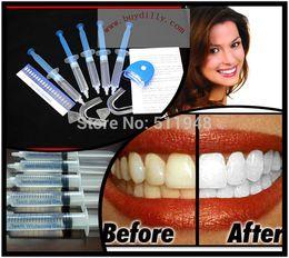 Wholesale Teeth Whitening Laser Kits - 1Pack lot Home Use Teeth Tooth Whitener Whitening Bleaching Dental Gel Syringe Kits + LED LASER Light MY316