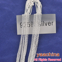 "Wholesale 925 Silve - Free shipping 30"" 925 sterling silver necklace silver925 jewelry ""0"" chain 925 sterling silver chian necklace 925 silve"