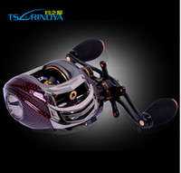 Wholesale Abu Reel Left - New Arrival! Trulinoya TS1200 Red LEFT Hand Bait Casting Fishing Reel 14 Bearings Baitcaster Gorgeous Abu Garcia Quality Pesca