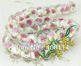 Wholesale 12mm Mix Glass Beads - 160pcs Flower Inside Faceted Rondelle Cute Lampworked Glass Beads 12MM mixed 10colors