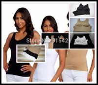 Wholesale Spanx Body Shapewear - 1Pcs Cami Body Shaper Genie Bra ShapeWear Tank Top Slimming Camisole Spanx Camishaper 3 Color X03