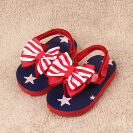 Wholesale Rubber Flip Flop Bow - Wholesale-2015 new EVA material big bow kid's beach sandals and flip flops for girls, non-slip Rubber bottom,red princess shoes,size 3-5