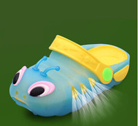 Wholesale Slipper Caterpillar - Wholesale-In the summer style of 2015 Baby jelly shoes cartoon caterpillar child slippers sandals hot shot
