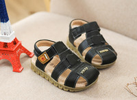 Wholesale Boys Sandals 11 12 - Wholesale-new arrival 2015 children single shoes summer sandals kids boys sandals fashion soft bottom child shoes free shipping