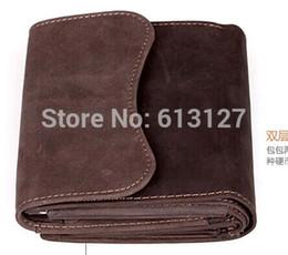Wholesale Mens High Design Wallets - Wholesale-New 2015 Brand wallets design Mens Fashion 100% genuine leather wallets Folding Design Men wallets Brand High Quality CAO-002-5