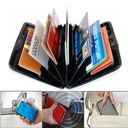 Wholesale fashion Wallets online shopping - Aluminium Business ID Pocket Case Box Wallet Holder