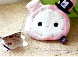 Wholesale San X Wallets - Wholesale-10PCS Kawaii HOT NEW SAN-X Sentimental Master Rabbit; Plush 12*11CM Coin Cash Purse & Wallet Pouch BAG Case ; Change