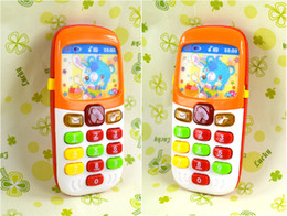 Wholesale Apple Learning Machine - mobile phone toy apple learning machine with light best gift for children,electronic toys,