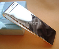 Wholesale Clip Wallet For Men - Wholesale-2015 New money clips fine jewelry 925 sterling silver Simple Money clip Wallet for men's jewelry silver solid clips