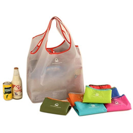 Wholesale Nylon Recycling Bag - Retail Factory Price Nylon Storage Reusable Eco Shopping Bags Foldable Grocery Bags Recycle Bag Candy Color